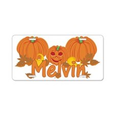 Halloween Pumpkin Melvin Aluminum License Plate