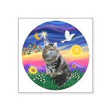"Twilight - Silberian cat Square Sticker 3"" x 3"""