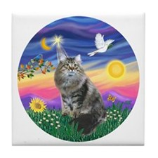 Twilight - Silberian cat Tile Coaster