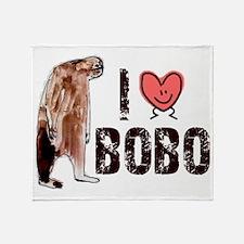 i love bobo Throw Blanket