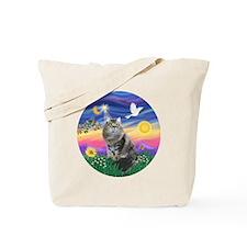 Twilight - Silberian cat Tote Bag