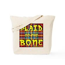 PlaidBone8x8 Tote Bag