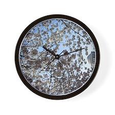Peal bloom cherry blossom frames Thomas Wall Clock