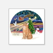 "X Magic - Orange Tabby 46 Square Sticker 3"" x 3"""