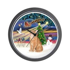 X Magic - Orange Tabby 46 Wall Clock