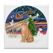 X Magic - Orange Tabby 46 Tile Coaster