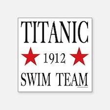"""SwimTeam12x12TRANS Square Sticker 3"""" x 3"""""""