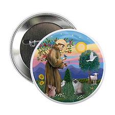 "St Francis - Birman Cat 2.25"" Button"