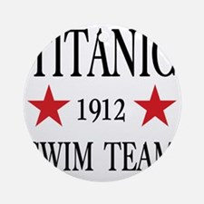 SwimTeam12x12TRANS Round Ornament