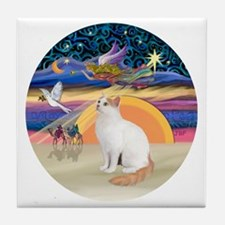XAngel-Turkish Van cat Tile Coaster