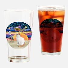 XAngel-Turkish Van cat Drinking Glass