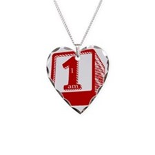 I am 1! Necklace Heart Charm