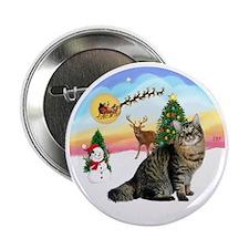 "Take Off - American Bobtail cat 2.25"" Button"