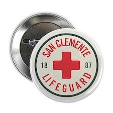 """San Clemente Lifeguard Patch 2.25"""" Button"""