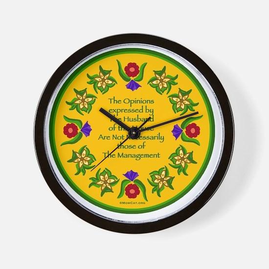 Opinions12x12TRANS Wall Clock
