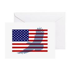 Flag  Eagle Patriot Greeting Card