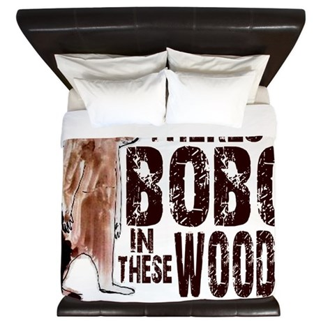 Bobo in These Woods - Finding Bigfoot King Duvet