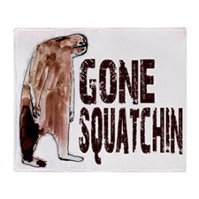 Gone Squatchin - Finding Bigfoot Throw Blanket