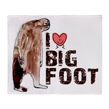 I Love Heart Bigfoot - Gone Squatchi Throw Blanket