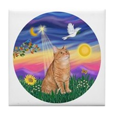 Twilight - Orange tabby Tile Coaster