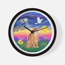 Twilight - Orange tabby Wall Clock