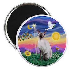 Twilight-Siamese cat (ChocPt) Magnet