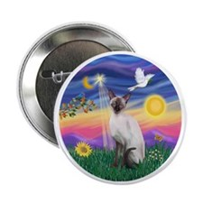 "Twilight-Siamese cat (ChocPt) 2.25"" Button"