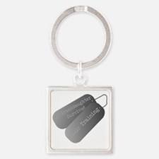 My granddaughter survived basic tr Square Keychain