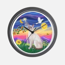 Twilight-Siamese54-LilacPt Wall Clock