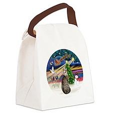 XMagic2-BengalCat1 Canvas Lunch Bag