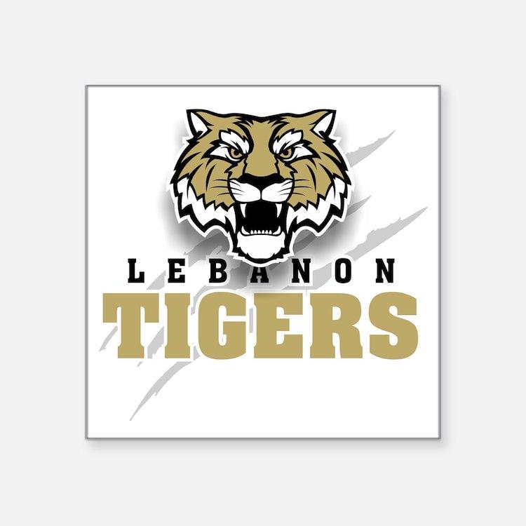 """Lebanon Tigers 4 Square Sticker 3"""" x 3"""""""
