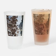 Peal bloom cherry blossom frames Je Drinking Glass