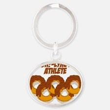 CHOCOLATE DOH!-LYMPIC ATHELETE Oval Keychain