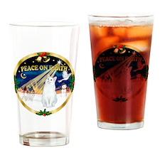 W-gold-XmasDove-Cat-SHWhite Drinking Glass