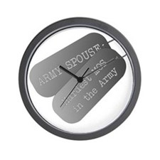 Army Spouse Hardest MOS in the Army Wall Clock