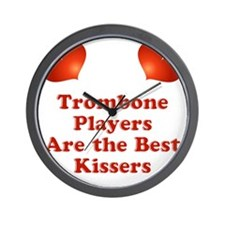 Trombone players are the best kissers Wall Clock