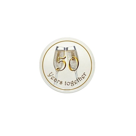50 Years Together Mini Button