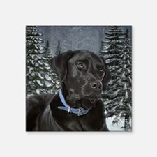 "Black Lab Square Sticker 3"" x 3"""