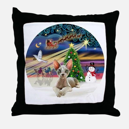 XMagic-Sphynx cat 27 Throw Pillow