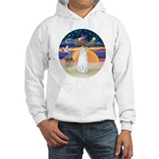 Xmas Angel-White Cat - ASH Hoodie