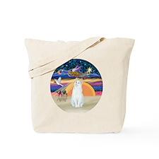 Xmas Angel-White Cat - ASH Tote Bag