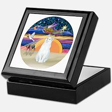 Xmas Angel-White Cat - ASH Keepsake Box