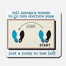 just a jump to the left Mousepad