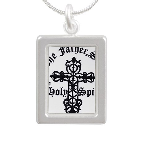 The Father, Son & Holy S Silver Portrait Necklace