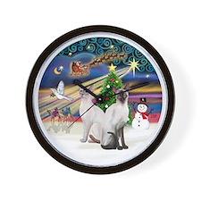 XMagic-Two Siamese 53+54 Wall Clock