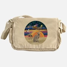 C-Angel-Peterbald cat Messenger Bag