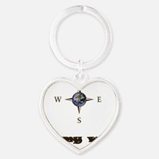 Directions Heart Keychain