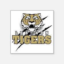 """Lebanon Tigers 3 Square Sticker 3"""" x 3"""""""