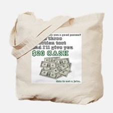 3 question (with cash) Tote Bag