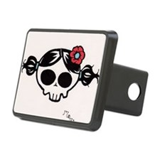 red flower girly skull Hitch Cover